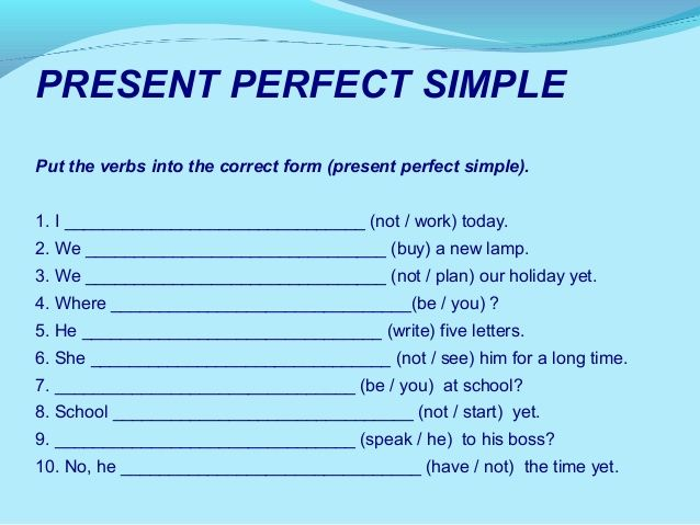 Image result for simple present tense exercises examples with – Perfect Tense Worksheet