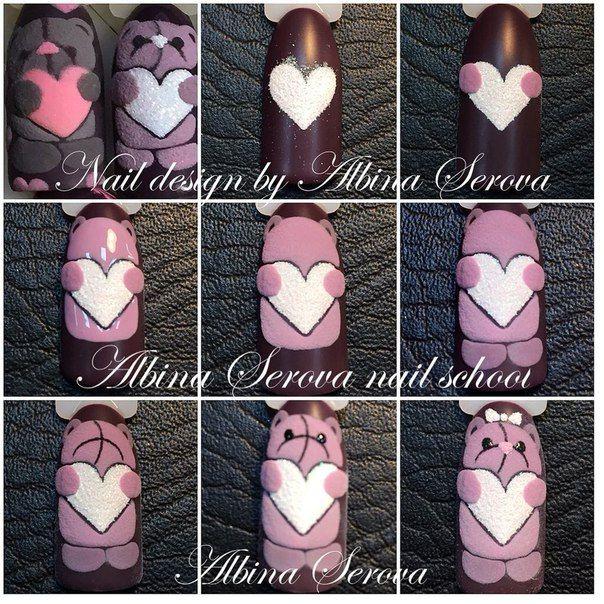 Pin de LUZ MERY Ubilles en ánimalitos | Pinterest | Diseños de uñas ...