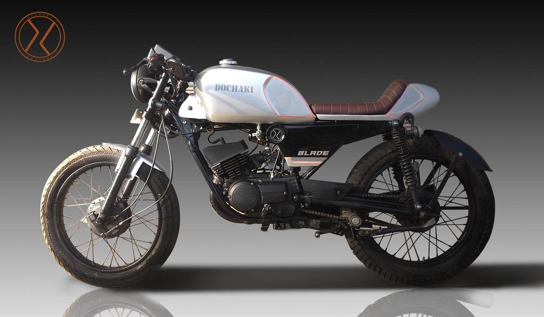 Yamaha motorcycle gloves india - Dochaki Blade Yamaha Rxz 4 Speed Cafe Racer