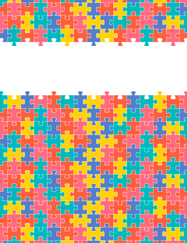 Free Printable Puzzle Piece Binder Cover Template Download The In JPG Or PDF Format