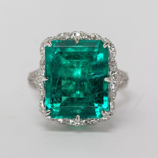 Emerald and Diamond Ring from Oliver Smith Jeweler.