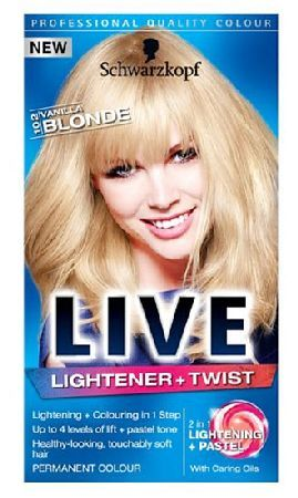 Schwarzkopf Live Lightener and twist 102 Vanilla Schwarzkopf Live Lightener and twist 102 Vanilla Blonde Level 3: Express Chemist offer fast delivery and friendly, reliable service. Buy Schwarzkopf Live Lightener and twist 102 Vanilla Blonde Level 3 http://www.MightGet.com/january-2017-11/schwarzkopf-live-lightener-and-twist-102-vanilla.asp