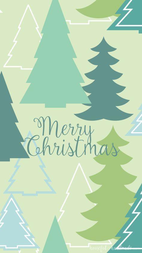 December Smartphone Background Christmas Tree Print 640x1 135