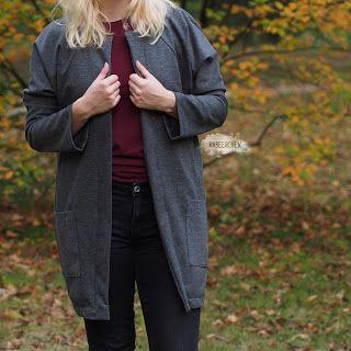 Herbst mantel selber nahen