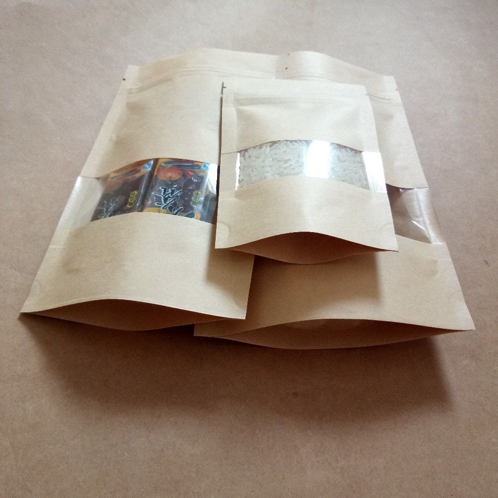 4pcs Pineapple Kraft Paper Gift Bags Twist Handle Bag Takeaway Pouches Bags