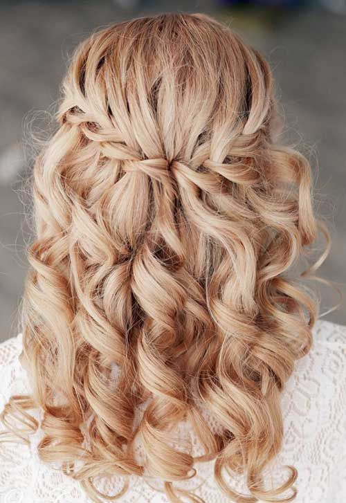 Bridal Hairstyles For Long Hair With Flowers : Wedding hairstyles for long hair waterfall braids
