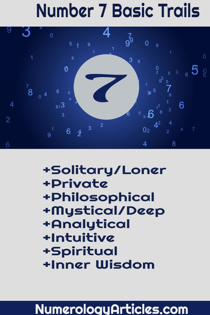 Number 7 Meaning In Numerology Numerology Numbers Numerology Meant To Be