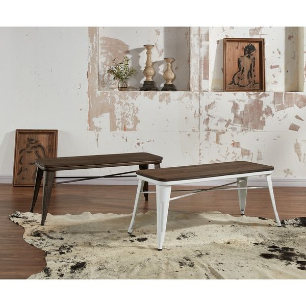 Modus Industrial-style Backless Double Bench | Overstock.com Shopping - The Best Deals on Dining Chairs