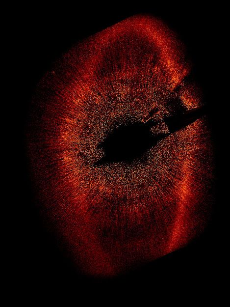 Wide View of Fomalhaut System | Hubble Space Telescope has taken the first visible-light snapshot of a planet circling another star. Estimated to be no more than three times Jupiter's mass, the planet, called Fomalhaut b, orbits the bright southern star Fom...
