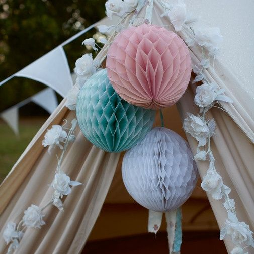 Honeycomb Decorations Paper Balls Honeycomb Paper Ball Decoration  Romantic Soft Colour Combination