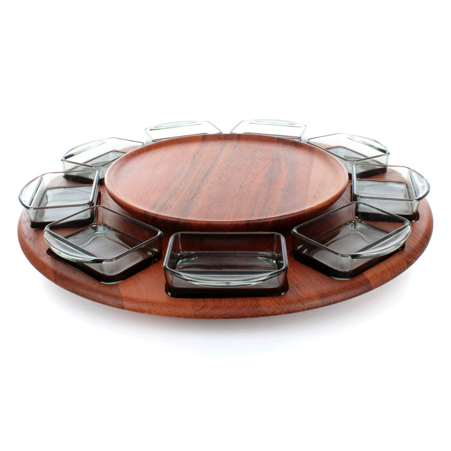 lazy susan by digsmed in the 1960s danish midcentury design large teak