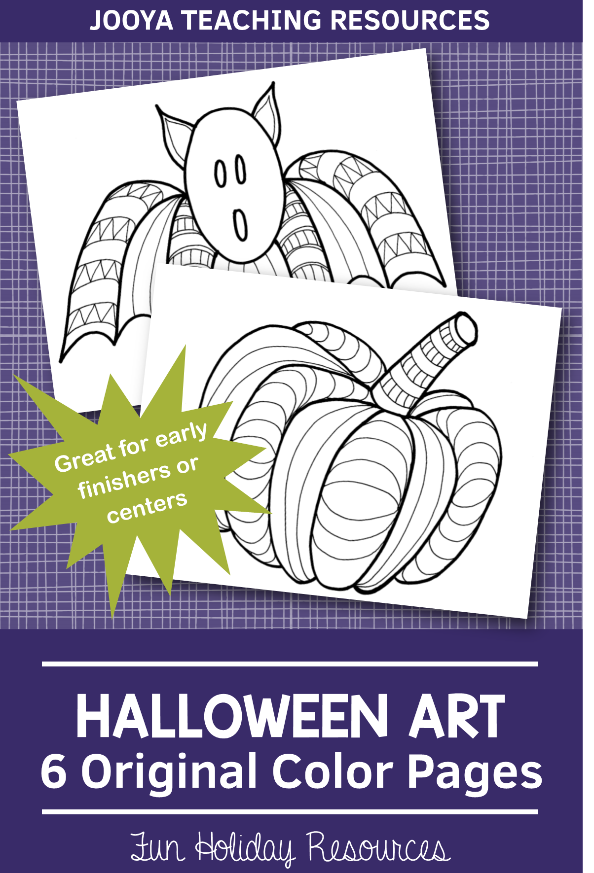 Zentangle Coloring Pages Halloween