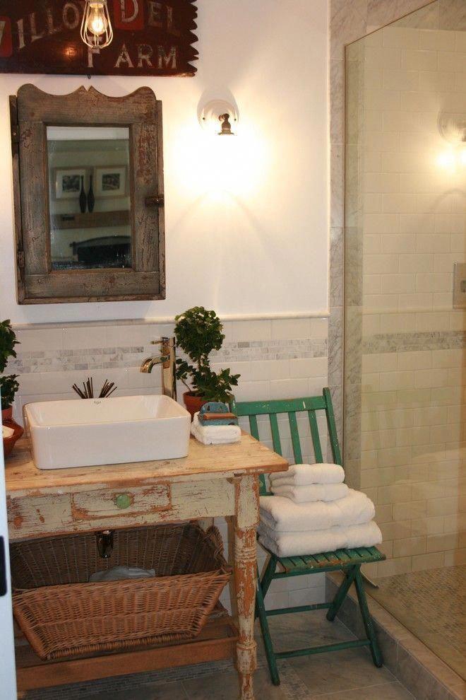 Modern country bathroom #Primitivebathrooms # ...