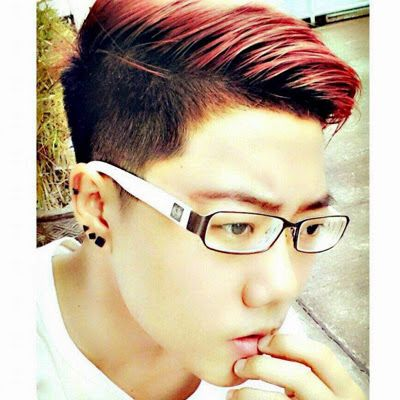 Red Highlights Maroon Hair Boys Colored Hair Dyed Hair Men