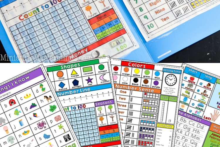Photo of Free Printable Kindergarten and First Grade File Folder Quick Reference Guide