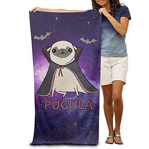 Beautiful Funny Pug Halloween Costume Pugula Adult Bath Beach Towel... Https://