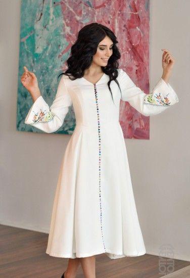 66be32d9b1b Купить брендовое платье в Киеве Красивое платье оригинального кроя Магазин  красивых платьев в Киеве Белое платье