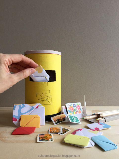 diy mail box schaeresteipapier kids craft diy. Black Bedroom Furniture Sets. Home Design Ideas