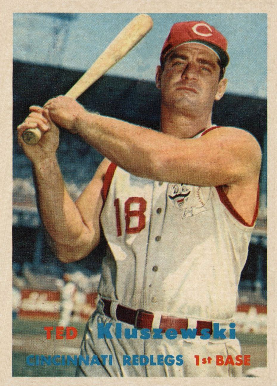 1957 Topps Ted Kluszewski Baseball cards, Baseball card