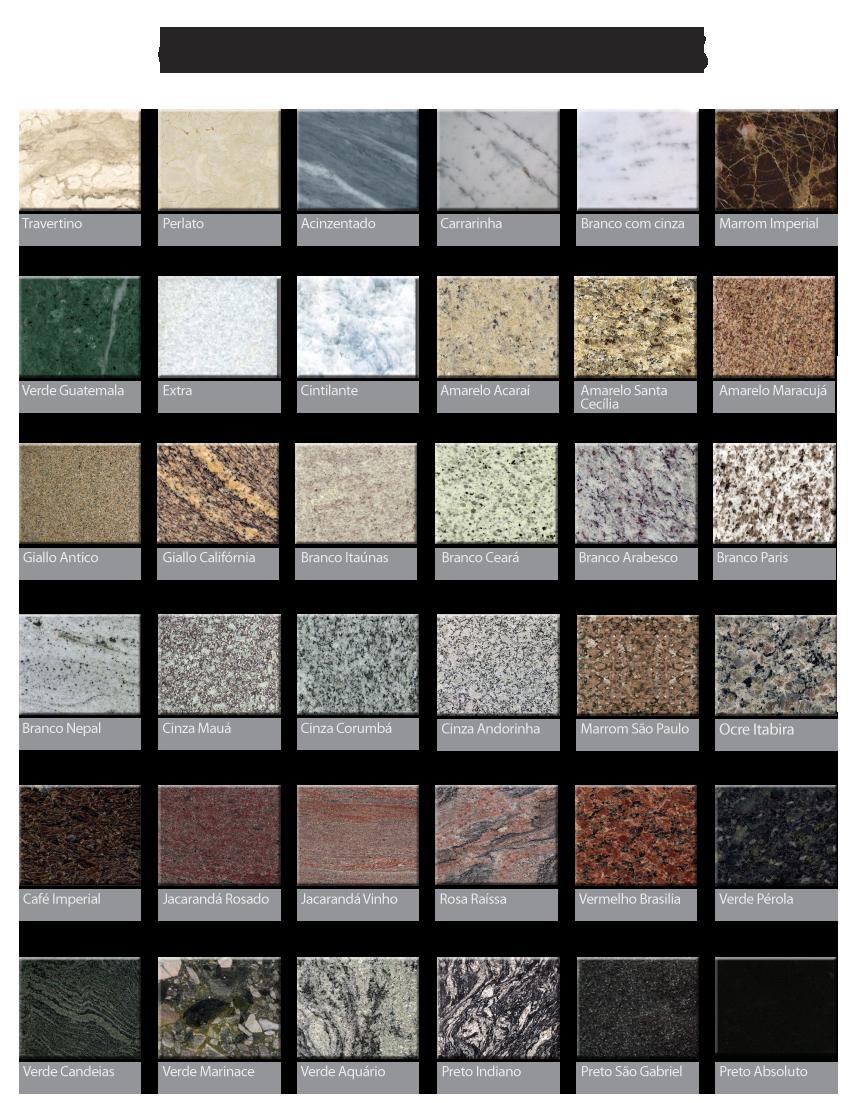 M rmores e granitos materiais revestimentos - Colores de granito ...