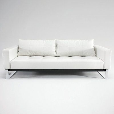 innovation bifrost deluxe excess white leather convertible sofa 94 rh pinterest at