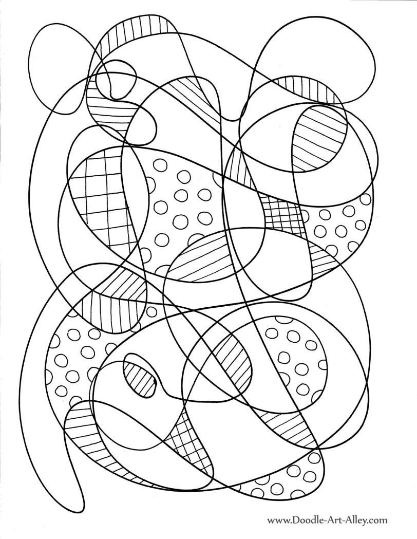 abstract doodle coloring pages - photo#18