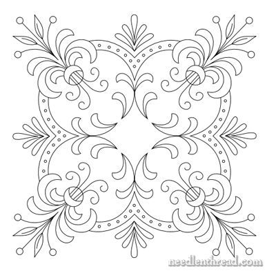 Free Hand Embroidery Pattern Perfect Pillow Top Embroidery