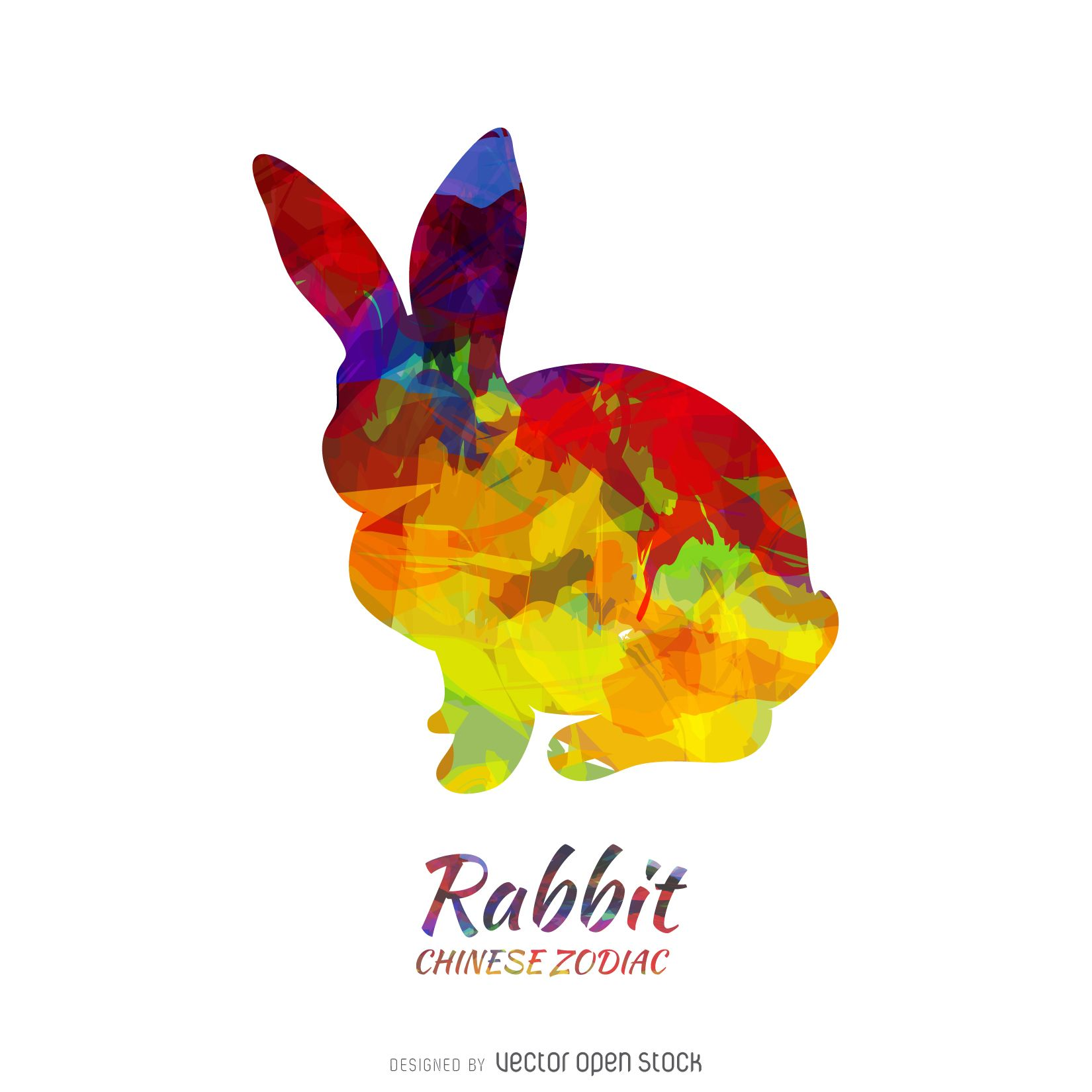 Chinese horoscope rabbit silhouette Chinese zodiac