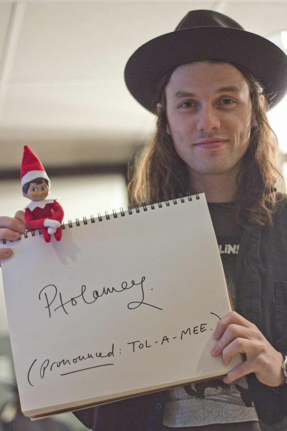 """James Bay gave him a proper name, with a silent """"P"""
