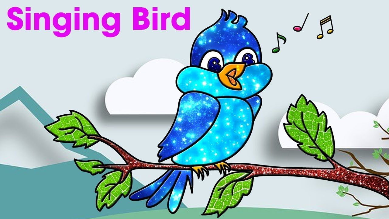 How To Draw Bird For Kids How To Draw A Singing Bird Bird Drawings Bird Coloring Pages Birds For Kids