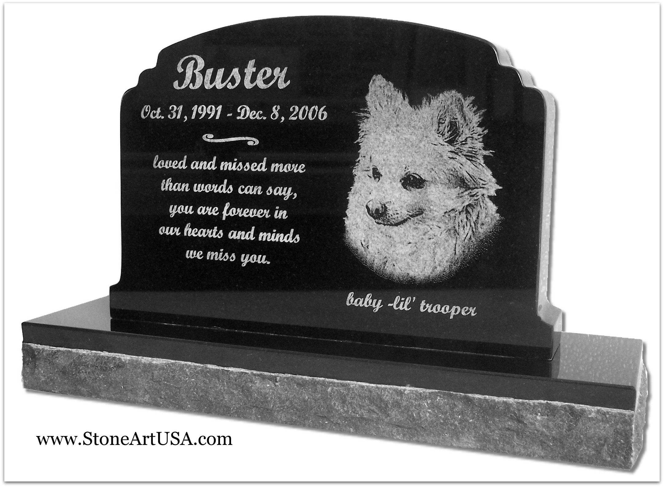 r i p buster new ideas for pet grave stones the granite