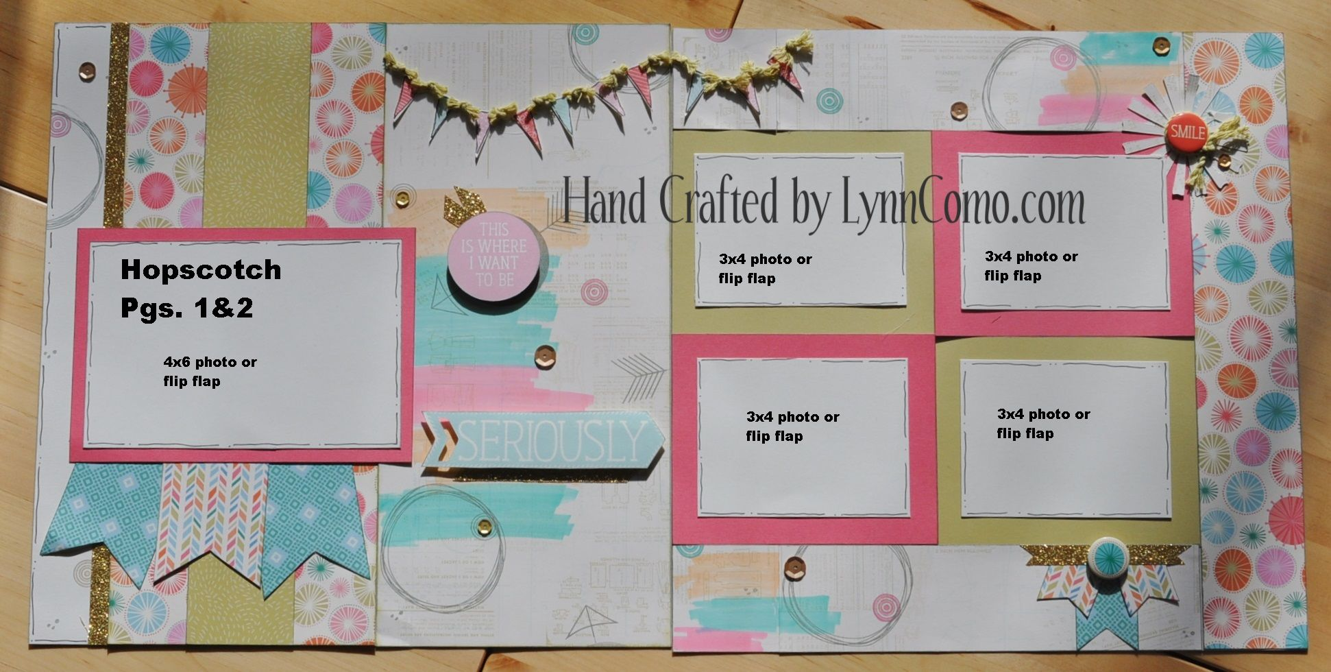 Scrapbook ideas and themes - Ctmh Hopscotch Layout By Lynn Como Ctmh Layout