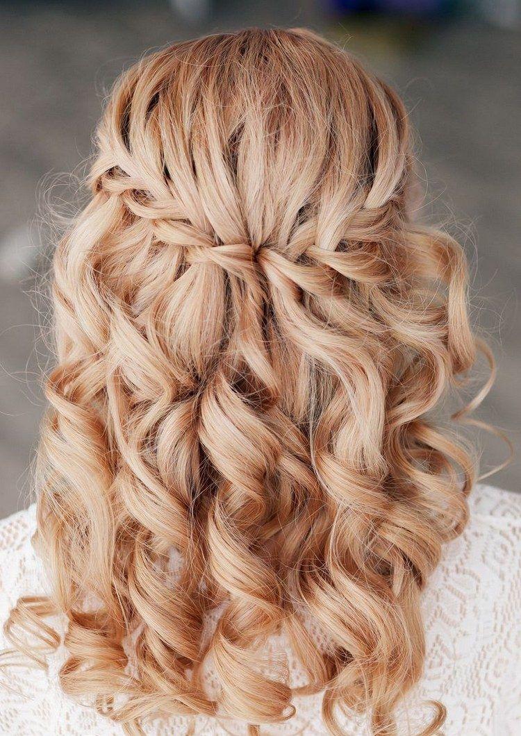 couronne tressée pour une coiffure cheveux mi long au charme naturel
