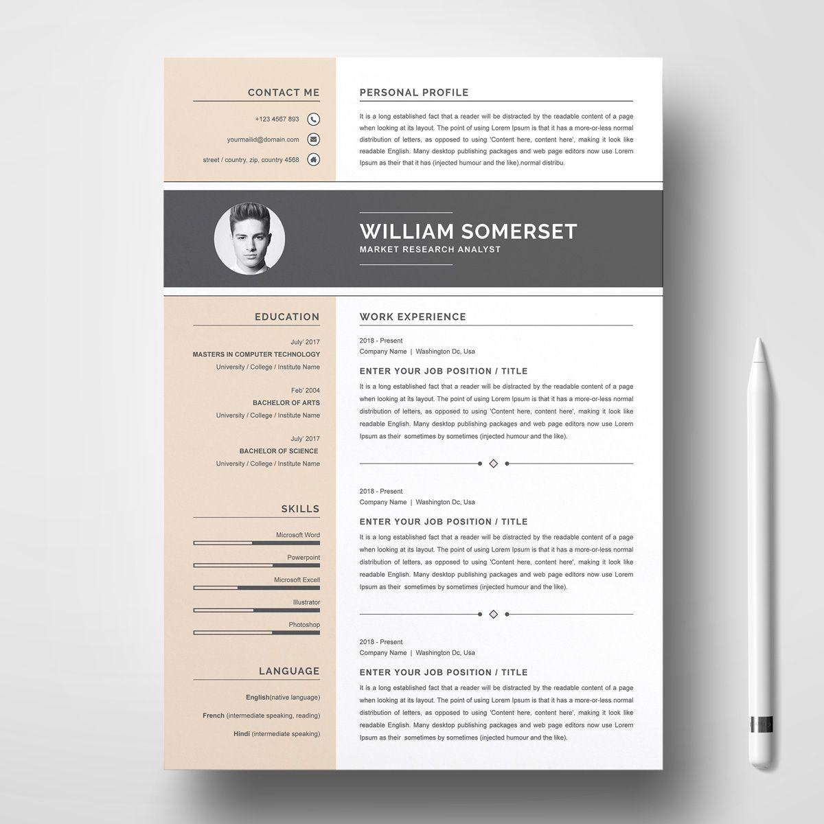 William Resume Template 79041 Resume template, Creative