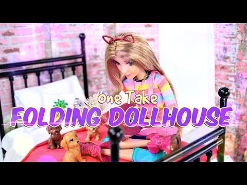 DIY - How to Make: Folding Dollhouse - One Take - Handmade - Doll - Crafts - 4K…