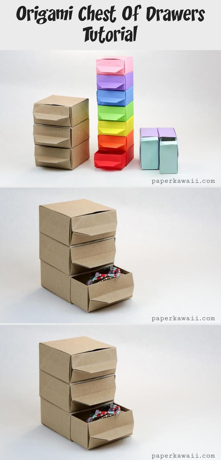 Photo of Origami Chest of Drawers Tutorial #origamiPlane #origamiPapillon #origamiFlores …