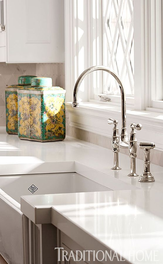 Showhouse Kitchen With Great Use Of Texture | Traditional Home ~ LOVE  FAUCET U0026 HEIGHT OF