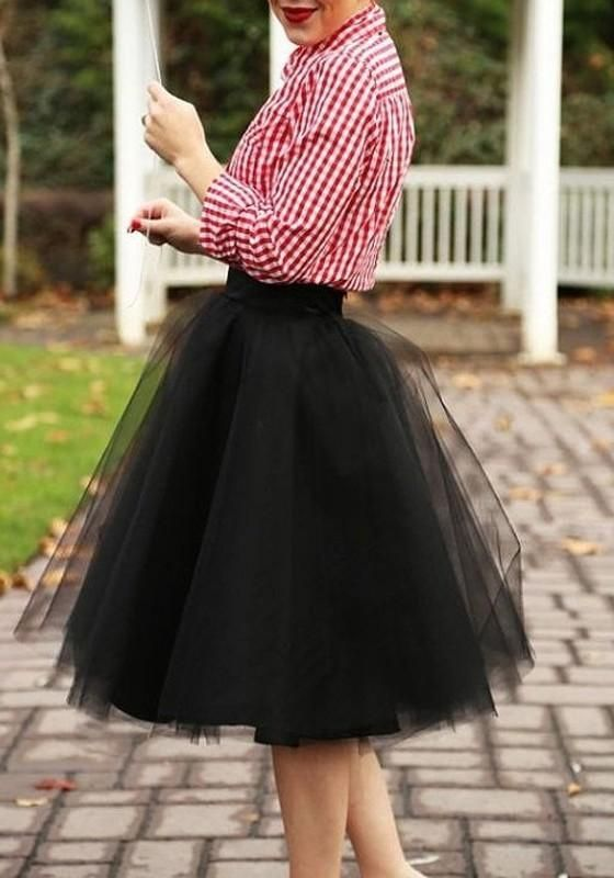 5aaf513c98 Black Grenadine Pleated Fluffy Puffy Tulle High Waisted Homecoming Party Adorable  Tutu Skirt