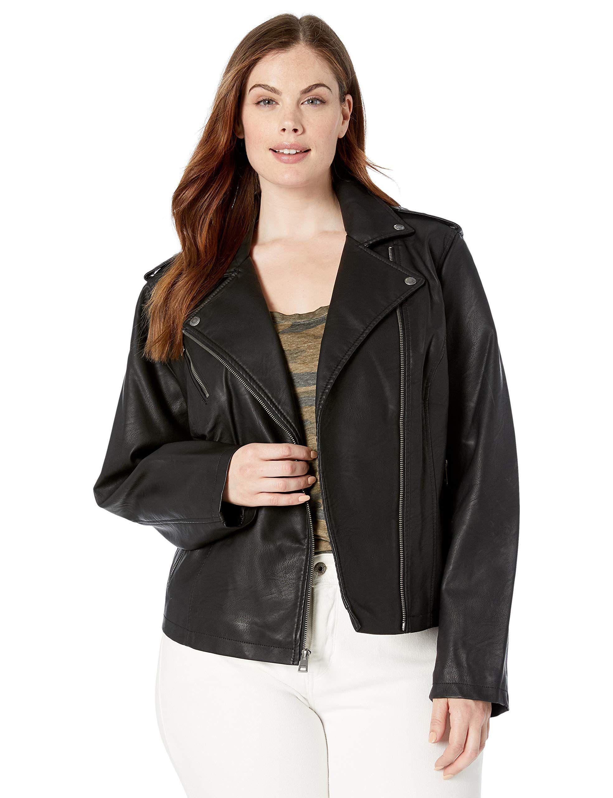 Levi's Women's Plus Size Faux Leather Classic Asymmetrical