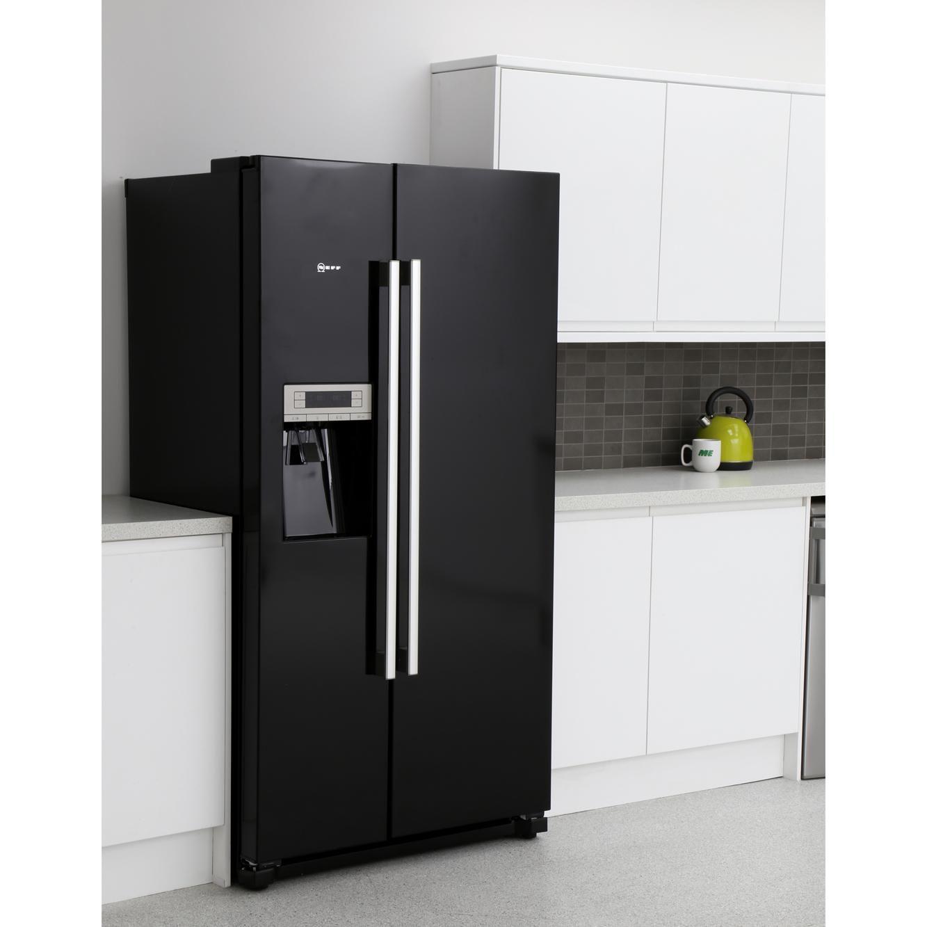 Buy Neff N50 Ka3902b20g American Fridge Freezer Ka3902b20g Black Marks Electrical American Fridge American Fridge Freezers Fridge Freezers