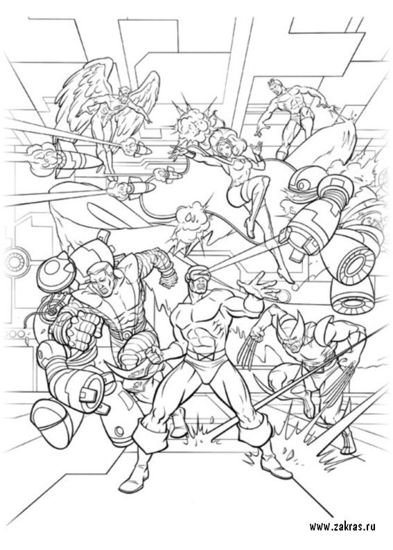 Pin by marjolaine grange on coloriage x-men | Pinterest