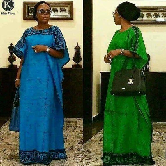 Trendy schönes langes Kleid. Buntes modisches afrikanisches Stoffkleid. Alle Farben und Stoffe #afrikanischeskleid