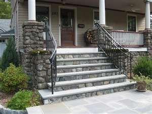 Best Railing Stone Steps Exterior Stairs Porch Steps Front 400 x 300