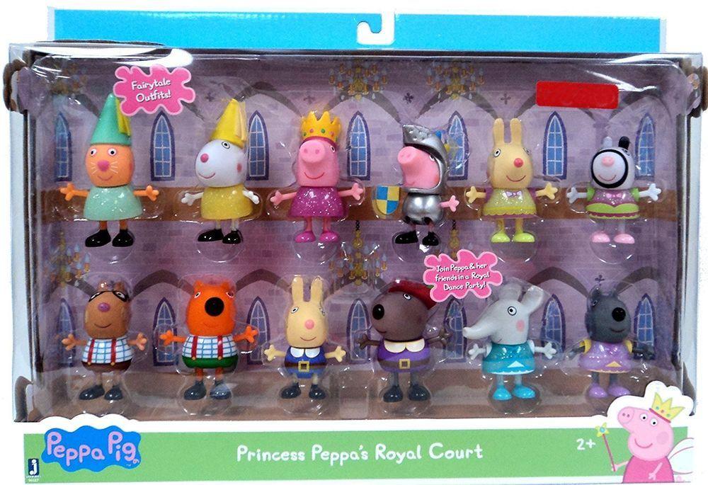 Nick Jr Peppa Pig PRINCESS PEPPA'S ROYAL COURT 12 FIGURES ...