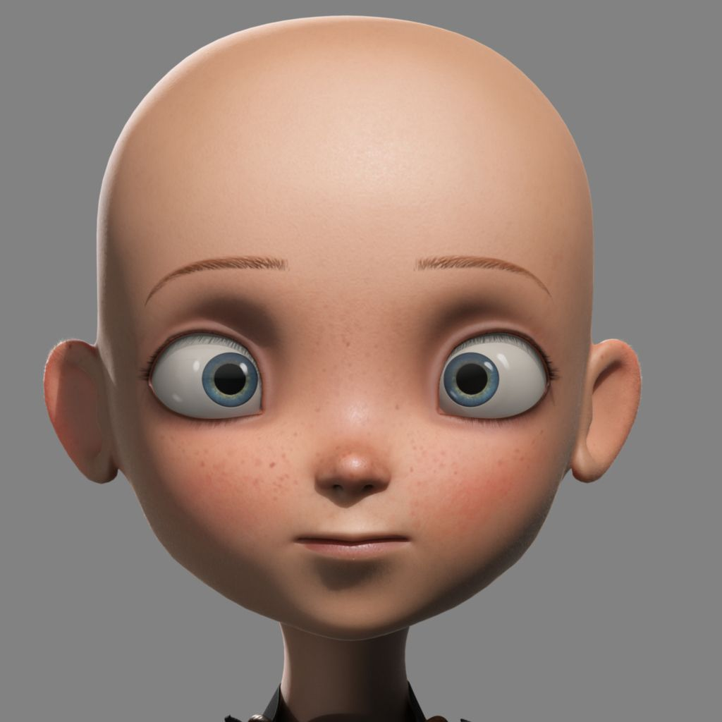 Cartoon Characters Facing Forward : D face skin texture image galleries imagekb