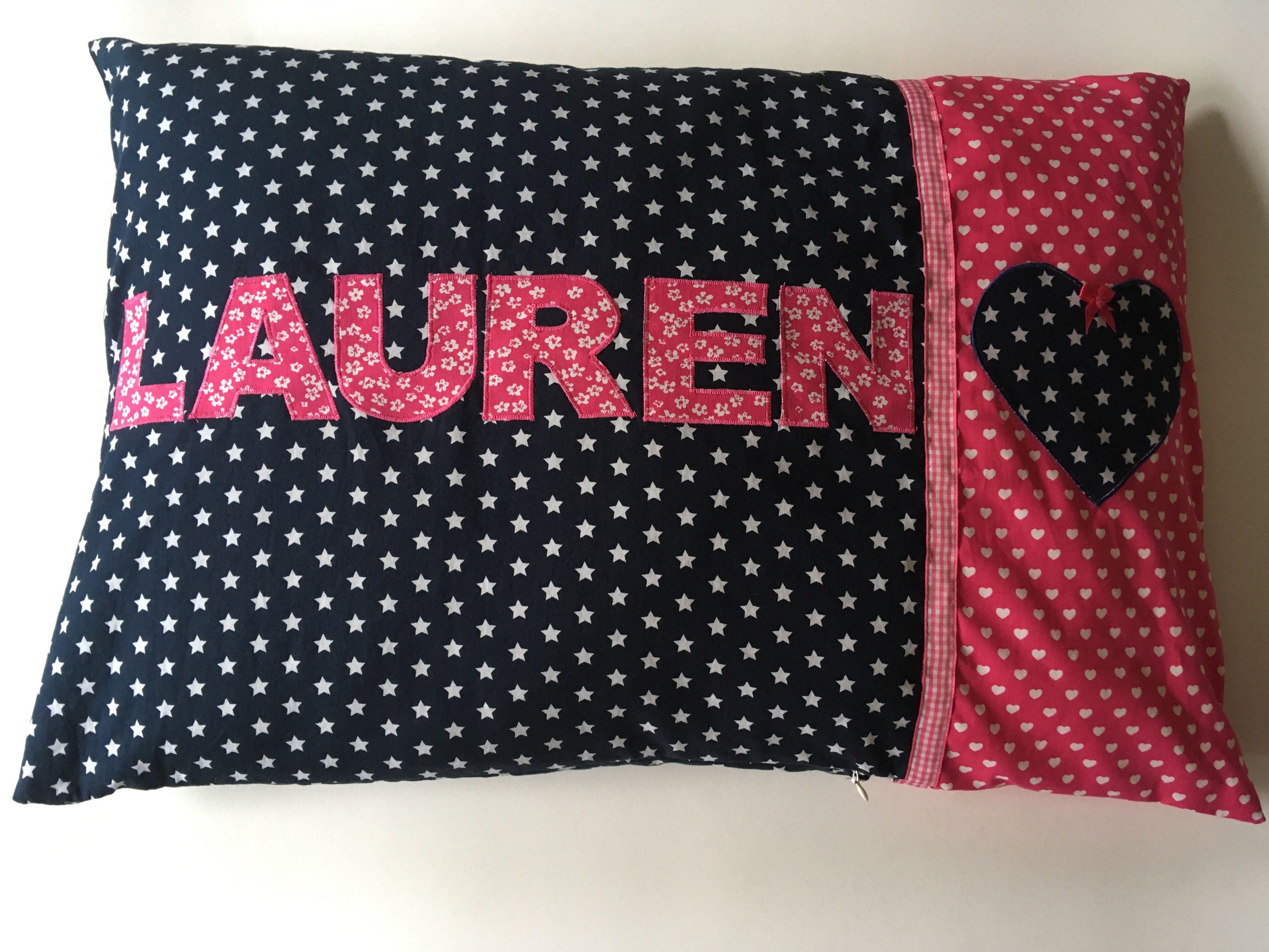 Kussen Met Naam : De gepersonaliseerde roze kussens met ster en naam etsy