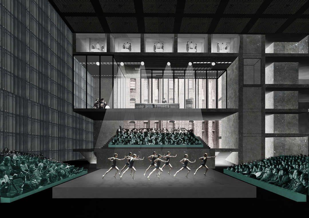 The Factory Manchester Architecten, Gebouwen en Rem koolhaas