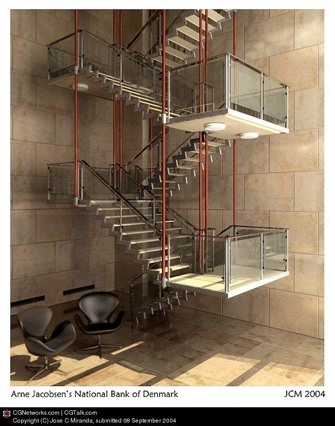 Best Arne Jacobsen National Bank Stairs Steps Pinterest 640 x 480