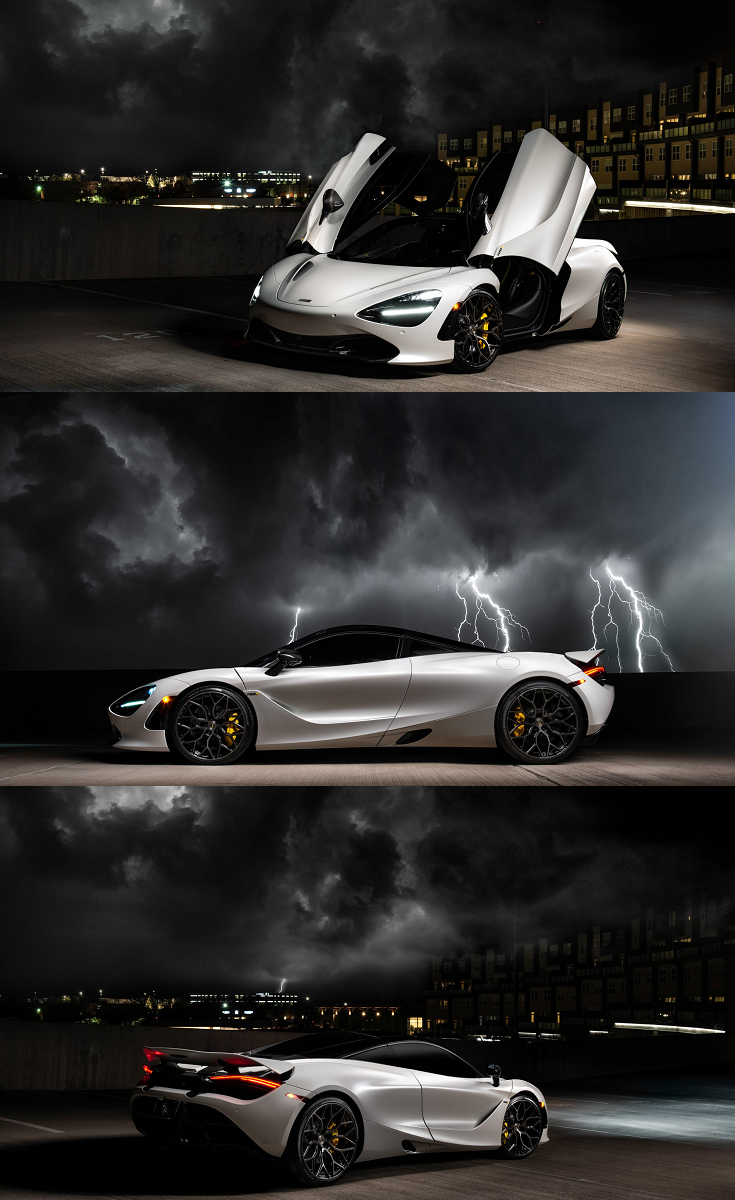 White Mclaren 720s Appears Gorgeous With Vertical Doors Mclaren Lux Cars Dream Cars