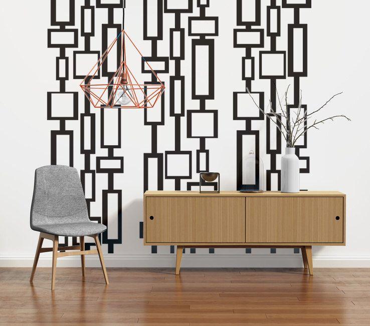 Mid Century Modern Decor Wall Decals Art Retro